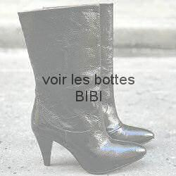 Patricia Blanchet bottes Bibi cuir vernis noir finish