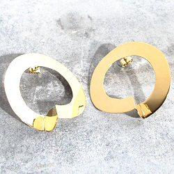 Anne Thomas boucles Oro Boro laiton doré