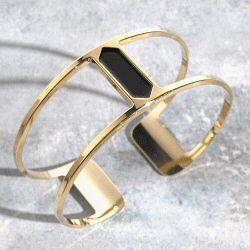 Anne Thomas bracelet noir Reda manchette
