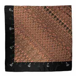 Annee carre de soie Tapis Volant 110cm marron