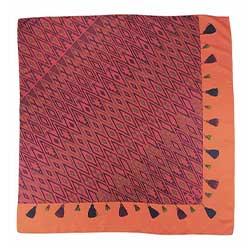 Année carré de soie Tapis Volant orange fuchsia