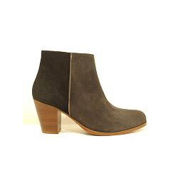 Anonymous boots daim gris noir Amber