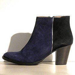 Anonymous boots Amber daim bleu noir