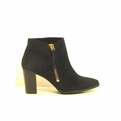 Anonymous boots cuir marine zip dor� Minca
