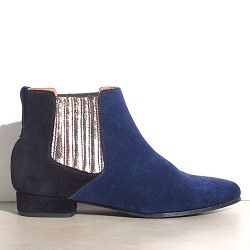 Anonymous boots Olivia noir/navy dailm bicolores