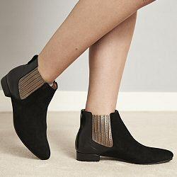 Anonymous boots Olivia noir daim & cuir
