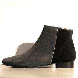 Anonymous boots Samantha daim gris noir