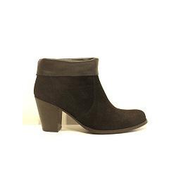 Anonymous boots daim noir revers cuir