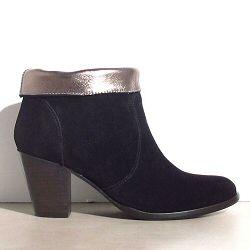 Anonymous boots Tara daim noir revers m�tal