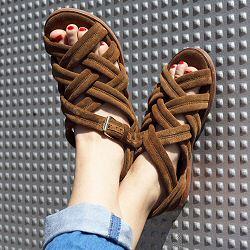 Anonymous sandale daim tabac Betty