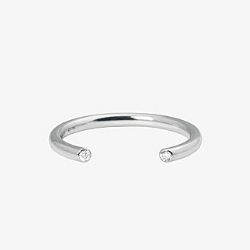 Vanrycke bague Massai or blanc 18k diamants