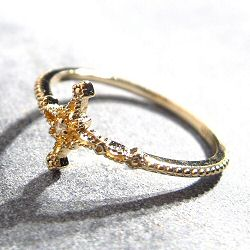 Bali Temples bague croix strass clear