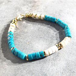 Bali Temples bracelet Bahia howlite turquoise