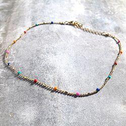 Bali Temples chaine de cheville Perles Multico