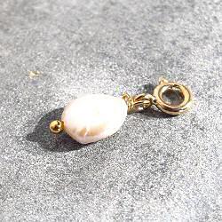 Bali Temples charm perle de nacre dore