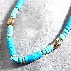 Bali Temples collier Bahia howlite turquoise XL