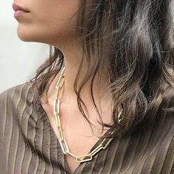 Bali Temples collier long chaine forçat doré