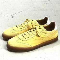 Elia Maurizi baskets cuir daim jaune