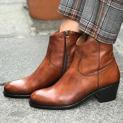Elia Maurizi boots camarguaises 9806 cognac cuir