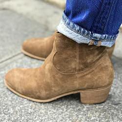 Elia Maurizi boots camarguaises 9806 daim tabac