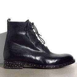 Elia Maurizi boots cuir noir cloutées montantes