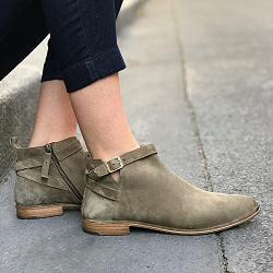 Elia Maurizi low boots daim kaki taupe