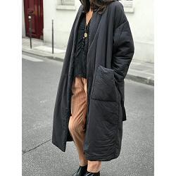Elsa Esturgie manteau long Boudoir - carbon