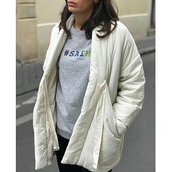 Elsa Esturgie manteau ouatiné Bulle ecru