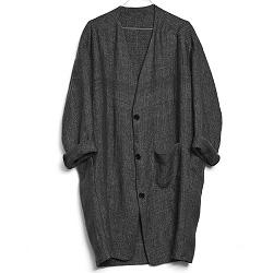 Elsa Esturgie manteau Otis gris