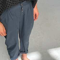 Elsa Esturgie pantalon Raoul gris anthracite