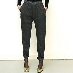 Elsa Esturgie pantalon laine Urs noir