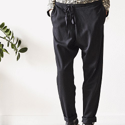Elsa Esturgie pantalon Paco noir
