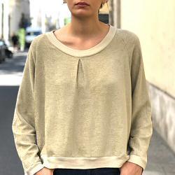 Elsa Esturgie Sweat Bonheur - beige