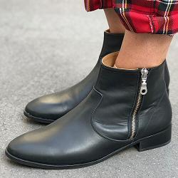 Emma Go boots cuir noir Murdoch
