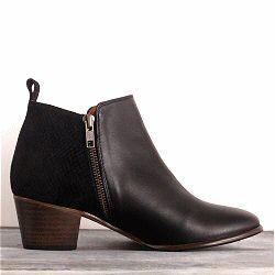 Emma Go bottines Wallace noir daim & cuir