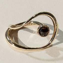 Faris bague Saturn grenat garnet bronze
