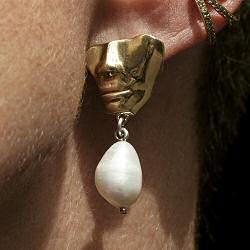 Faris boucle solo Portra drops perla bronze