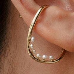 Faris earcuff solo Vinea Perla 6 bronze
