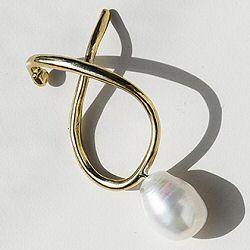 Faris earcuff solo Vinea Perla 1 bronze