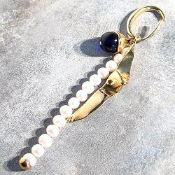 Faris boucle solo Soiree bronze et perles nacre