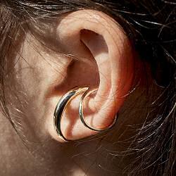 Faris earcuff solo Double bronze