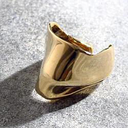 Faris earcuff Pleat bronze
