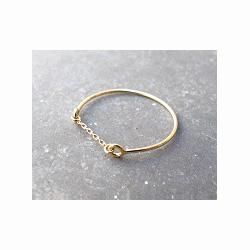 Feidt bijoux bague chaine or jaune Feidt Nine 9k