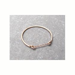Feidt bijoux bague chaine or rose 9k