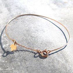 Feidt bijoux bracelet jonc or rose 9 carats