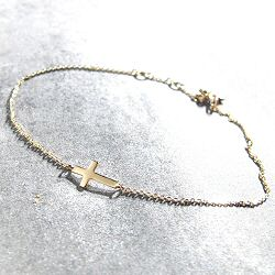 Feidt bracelet croix or jaune 9k