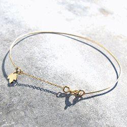 Feidt bijoux bracelet jonc or jaune 9k