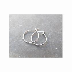 Feidt bijoux Mini créoles or blanc 9k (paire)