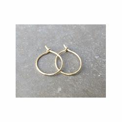 Feidt bijoux Mini-créoles or jaune 9k (paire)