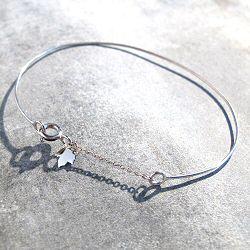 Feidt bracelet jonc or blanc 9 carats